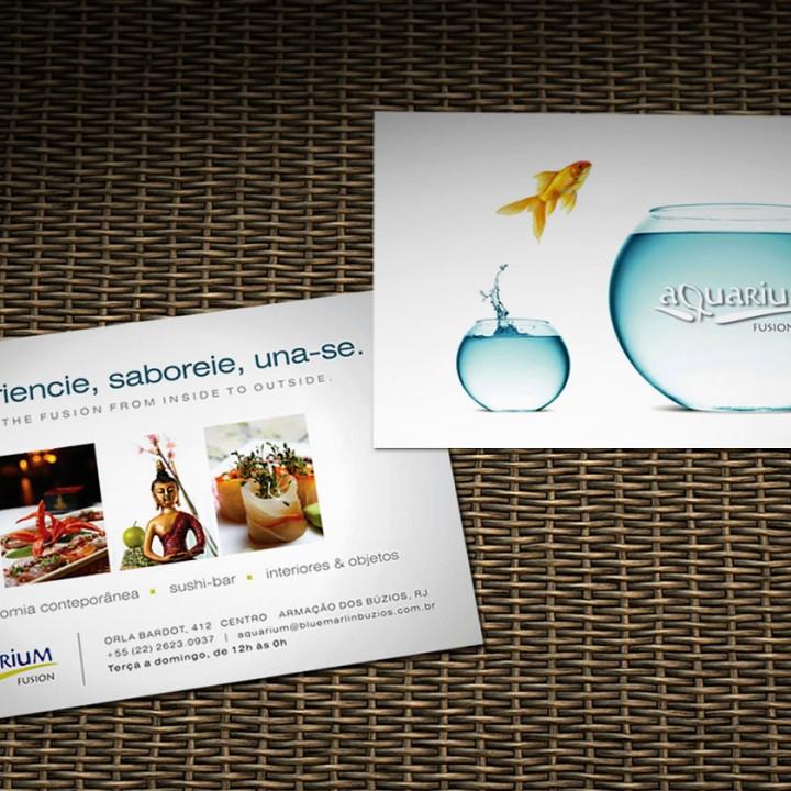 Aquarium Fusion postcard
