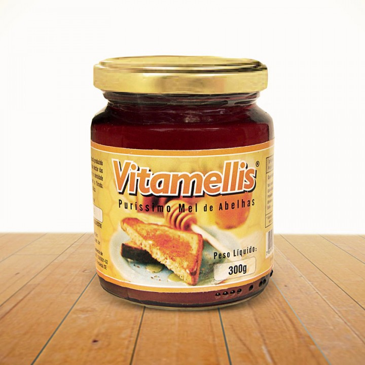 Vitamellis honey jar label