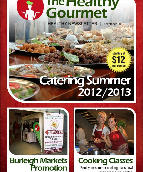 The Healthy Gourmet Newsletter