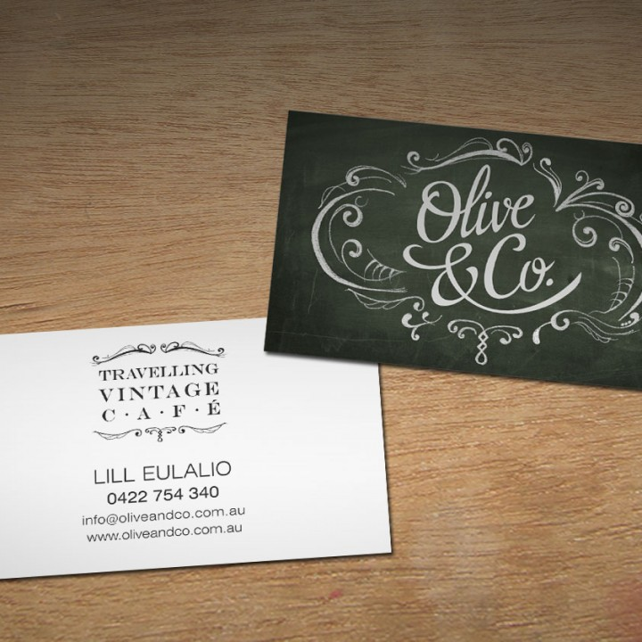 Olive and Co. business cards