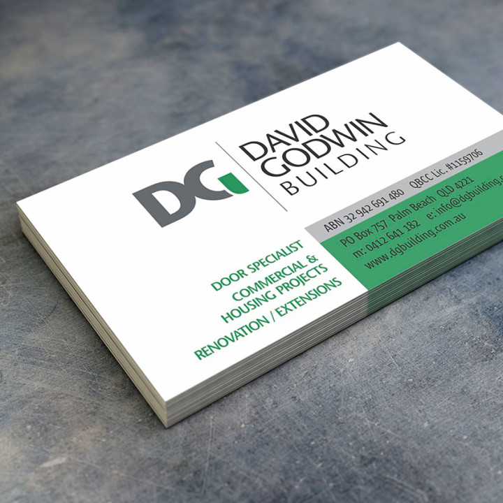 David Godwin Building business cards