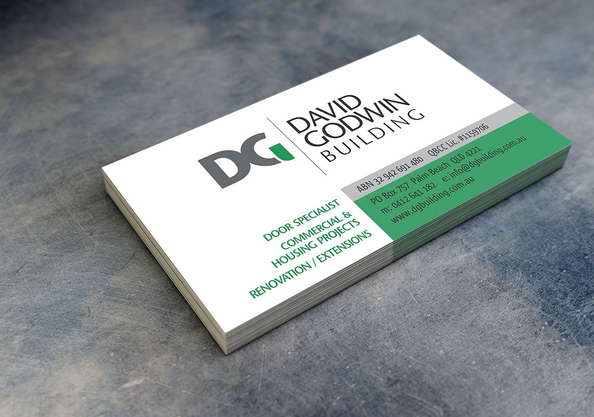 David Godwin Building business cards - NE3 Graphic Design, Web ...