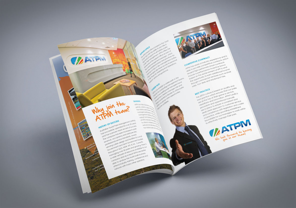 atpm staff corporate brochure ne3 graphic design web design and
