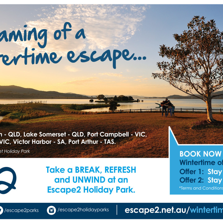 Escape2 winter magazine half page ad