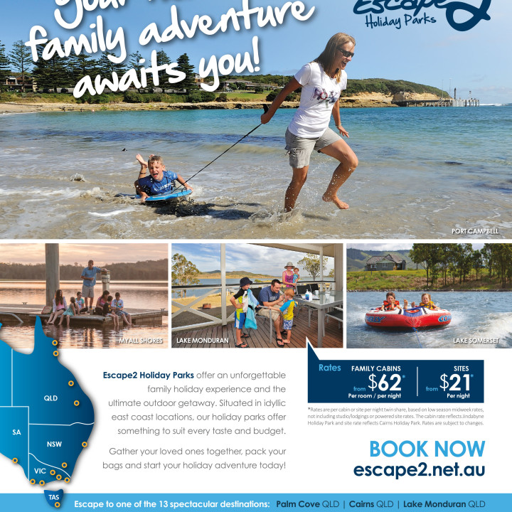 Escape2 Parks magazine full page ad