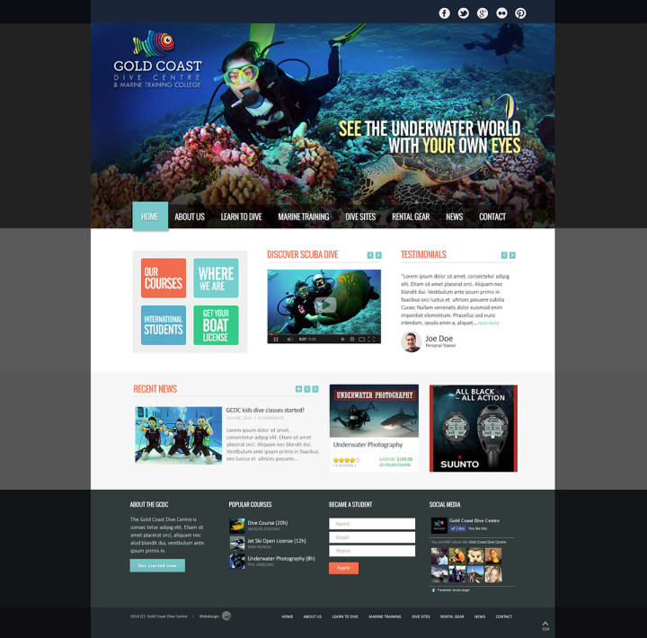 Gold Coast Dive Centre web layout2